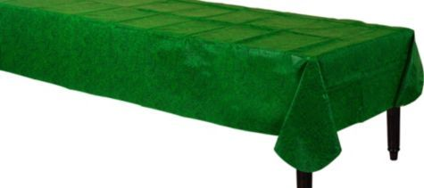 Golf Theme Table Cover - Grass Print Flannel-Backed Vinyl Table Cover 52in x 90in - Party City