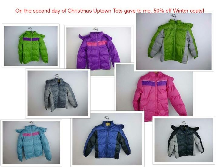 On the second day of Christmas Uptown Tots gave to me...50% off winter coats! Available in sizes 2T-7 girls and boys. Come check them out! #uptowntots #wherecutestmemoriesbegin #wintercoats
