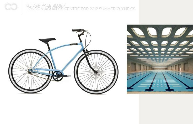 Creme Glider Pale Blue + London Aquatics Centre for 2012 Summer Olympics  #bike #creme #cycles #cremecycles #cycling #ride #mybike #freedom #lifestyle #art #life #love #city #cyclingphotos
