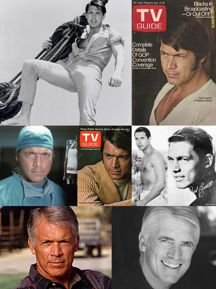Chad Everett (June 11, 1936 – July 24, 2012) was an American actor who appeared in over 40 films and television series but was probably best known for his role as Dr. Joe Gannon in the 1970s television drama Medical Center. For many years Everett was a co-host of the Labor Day Jerry Lewis Telethon which raises money and awareness for and about the affliction of muscular dystrophy,