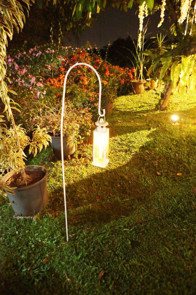 night wedding decoration candle lantern ? romantic @ Rumah Kebon Cengkeh Bandung, Indonesia