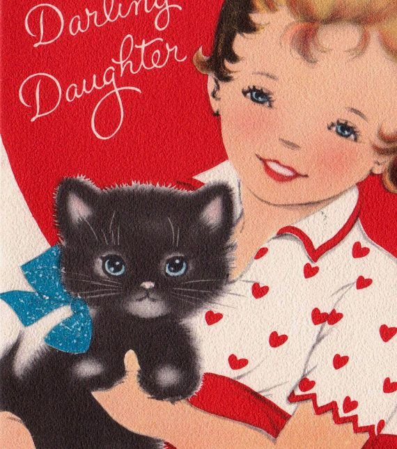 vintage for a darling daughter valentines by poshtottydesignz
