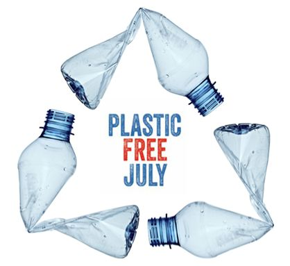 Help save the planet by going plastic free in July!
