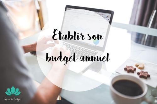 Faire un budget prévisionnel sur l'année