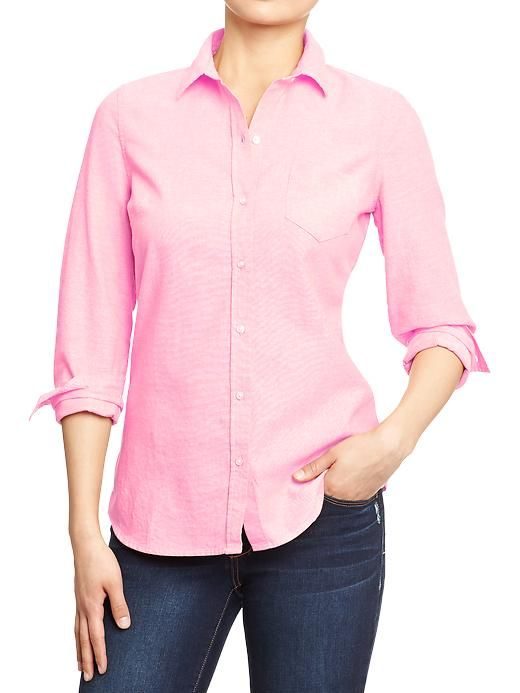 This Short Sleeve Oxford Shirt can be dressed up or down and can be worn alone or under another garment. Plus, it's both easy wear and care thanks to the stain-release finish. You'll stay clean and cool even during those high-stress days at the office. 60% cotton/40% polyester.