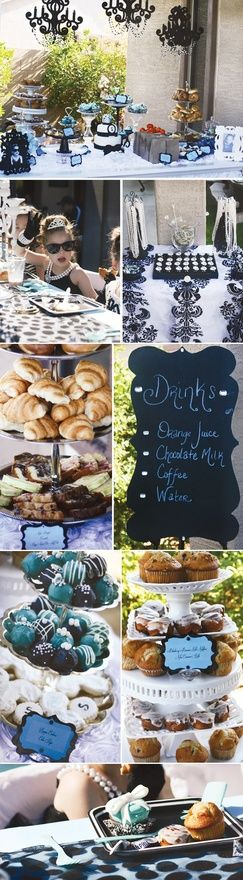 breakfast with tiffany theme kids party fun-party-ideas