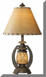 Rustic And Western Table And Floor Lamps