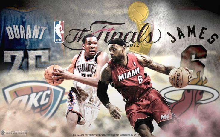 LeBron James and Kevin Durant NBA Finals Wallpaper 2012