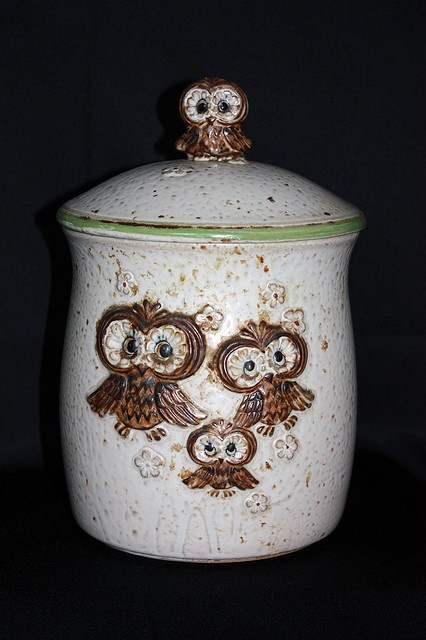 If I ever find this vintage owl cookie jar at a thrift store or flea market, I'll be the happiest girl alive.
