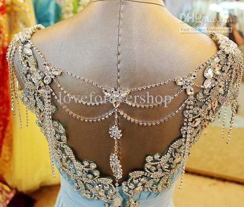 Wholesale Evening Dress - Buy New Arrival Luxurious Brilliant Sweetheart Backless Crystals Evening Dress Graduation Dress Beads Chiffon Swee...