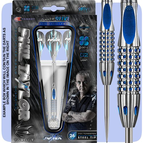 Phil Taylor Darts - Target Steel Tip Tungsten Darts - Phil Taylor - The Power - Power 9Five - Quattro - Gen 2