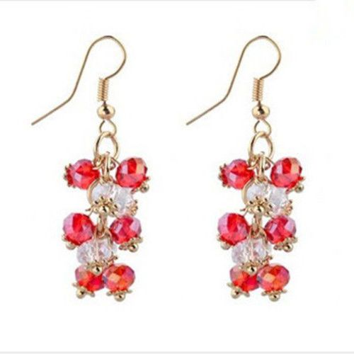 Pair-Of-Beautiful-Faceted-Red-White-Crystal-Abacus-Beads-Earrings-YT1164