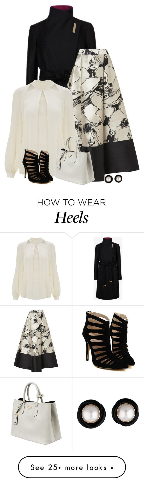 """chic"" by divacrafts on Polyvore featuring Ted Baker, L.K.Bennett, Temperley London, Prada and Original"