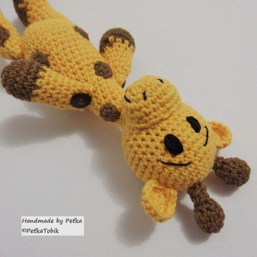 Háčkovaná žirafka Žofka puntíkatá