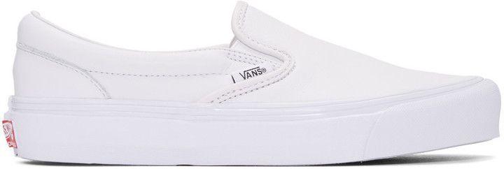 Vans White OG Classic Slip-On Sneakers
