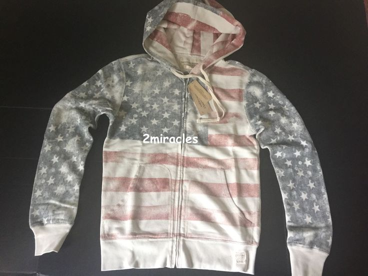 Polo Ralph Lauren White Patriotic Big Pony Hoodie