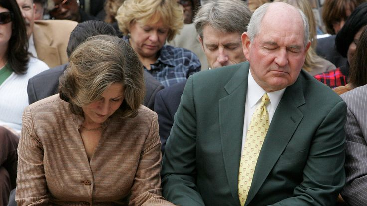 Former Georgia governor Sonny Perdue also believes in praying the drought away.