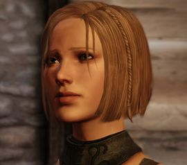 In Origins, if the Warden paid Kaitlyn for her grandfather's sword enough to travel to Denerim, she uses the small fortune to open a foundry, becoming wealthy and respected. She then meets Bann Teagan at court by chance, and they marry months later. This can only happen if the Warden pays before the Attack at Nightfall quest.