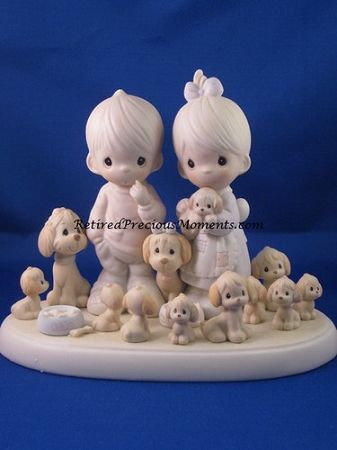 The Good Lord Has Blessed Us Tenfold - Precious Moment Figurine. this is so me with ton of dogs!!