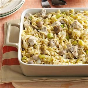 Sauerkraut Hot Dish Recipe -We often serve this hearty dish at family gatherings, and the men especially seem to enjoy it. My sister gave me the recipe about 15 years ago. It's been a favorite ever since. The unusual blend of ingredients is a pleasant surprise. —Nedra Parker, Dunbar, Wisconsin