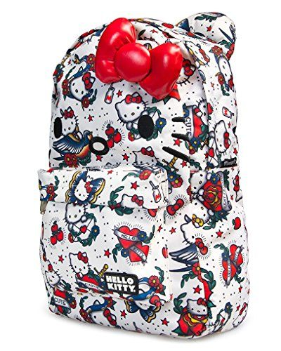 Loungefly Hello Kitty Tattoo Print Face Backpack -- You can find more details by visiting the image link.