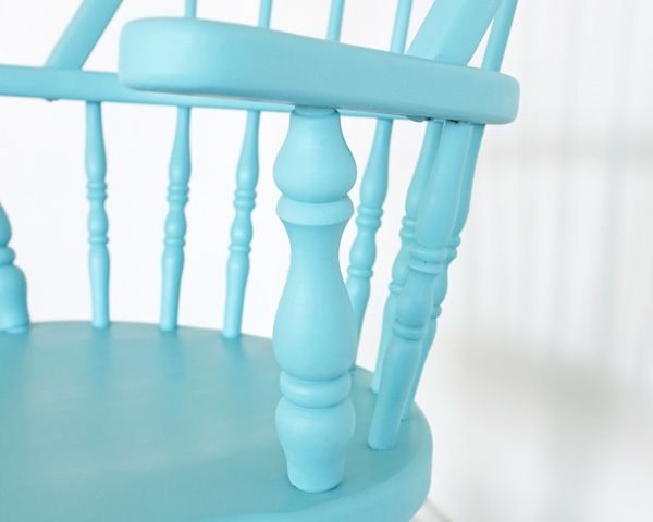 Diy dipped chair turquoise chair minwax and smooth for Satin versus eggshell paint finish