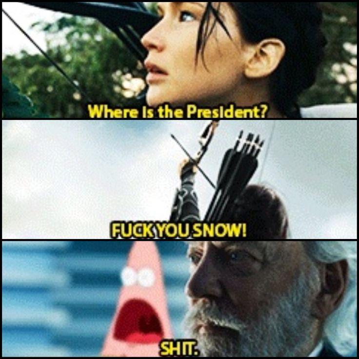 Lol haha funny pics / pictures / Patrick / Sponge Bob Humor / Hunger Games Humor / Catching Fire / Katniss / President Snow