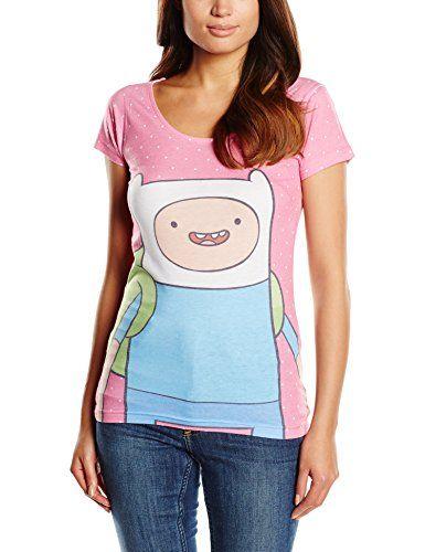 Adventure Time Womens Finn AT Polka Dot T-shirt Pink @ niftywarehouse.com #NiftyWarehouse #AdventureTime #TVShow #Cartoon #Show #CartoonNetwork