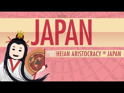 Japan in the Heian Period and Cultural History: Crash Course World History 227 by thecrashcourse: In which John Green teaches you about what westerners call the middle ages and the lives of the aristocracy…in Japan. The Heian period in Japan lasted from 794CE to 1185CE, and it was an interesting time in Japan. Rather than being known for a thriving economy, or particularly interesting politics, the most important things to come out of the Heian