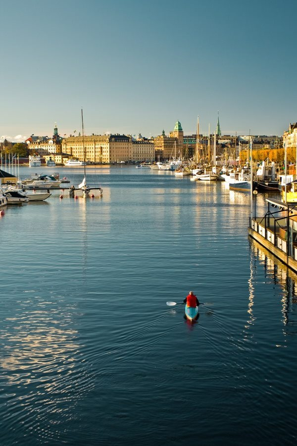 Sweden. The kayaker is going to be me.