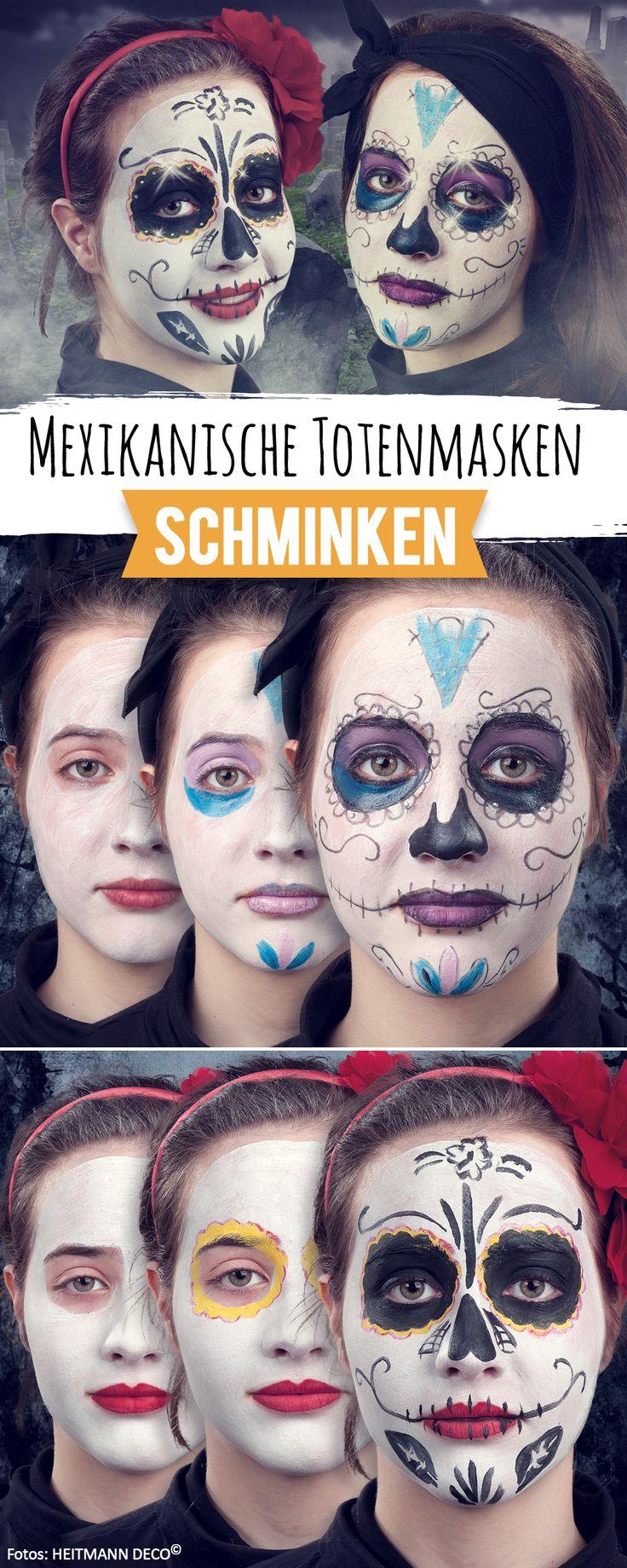 So schmicken Sie Mexikanischen Totenmasken für den Tag der Toten - oder Halloween.