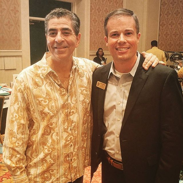 Well, well, well...what do we have here?    Just BOTH of our current Presidents - Michael Higer of The Florida Bar & Zack Zuroweste with #FlaYLD - chillin' together at the #VBLC17 reception in Orlando.    Lookin' good, fellas! #LawyerStarPower #ZackNMike #FloridaBarLeadership #AlwaysSharp #InstaGood