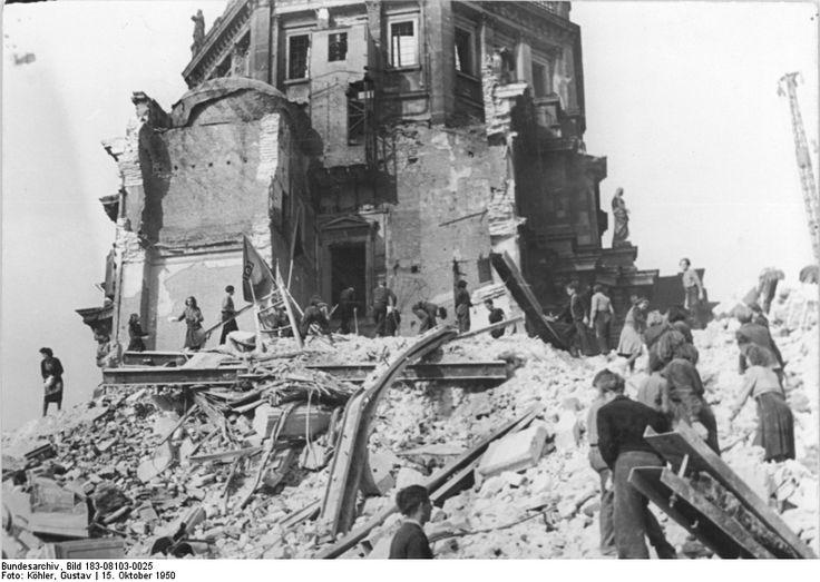 Oktober 1950 Ruine Berliner Stadtschloss