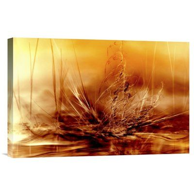 "Global Gallery 'Burning Water' by Willy Marthinussen Graphic Art on Wrapped Canvas Size: 16"" H x 24"" W x 1.5"" D"
