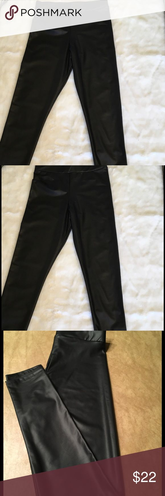 😜Classy Yet Sexy Faux Leather Leggings😜 😜These beautiful Faux Leather Leggings are perfect for dressing up or down. Made of 95% polyester and 5% Spandex. Extremely comfortable and looks classy with a lot of sexy.😜 Fashionomics Pants Leggings