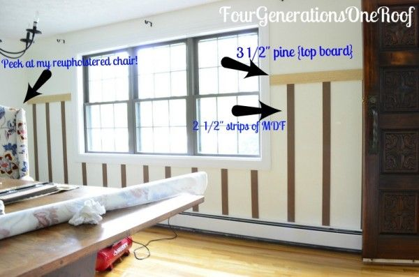 How to add board and batten to a wall {tutorial}