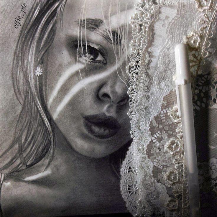 http://www.yanathedreamer.blogspot.com/ art portrait beautiful realistic pencil