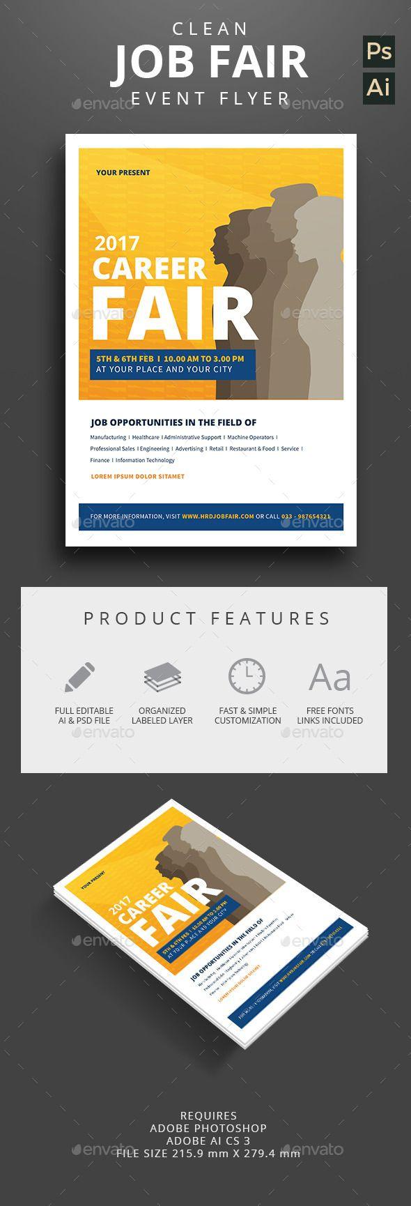 top ideas about job fair interview nails job clean job fair event flyer