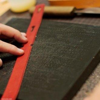 ヌメ革の手縫いトートバッグ弐型特注品が完成しました