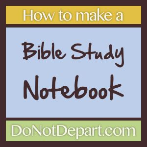 DIY Bible Study Notebook