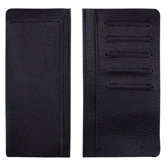 Herren schwarz Roper Brieftasche von SpringfieldLeather auf Etsy