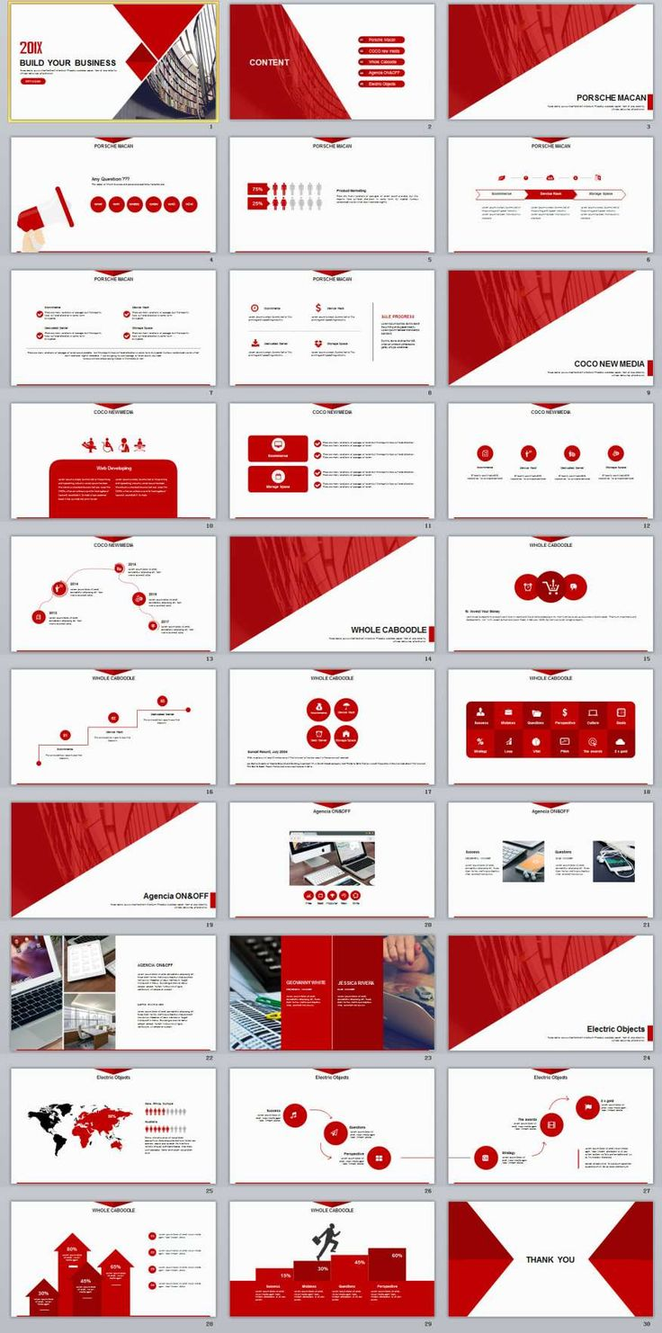 30+ Red Business Report PowerPoint templates