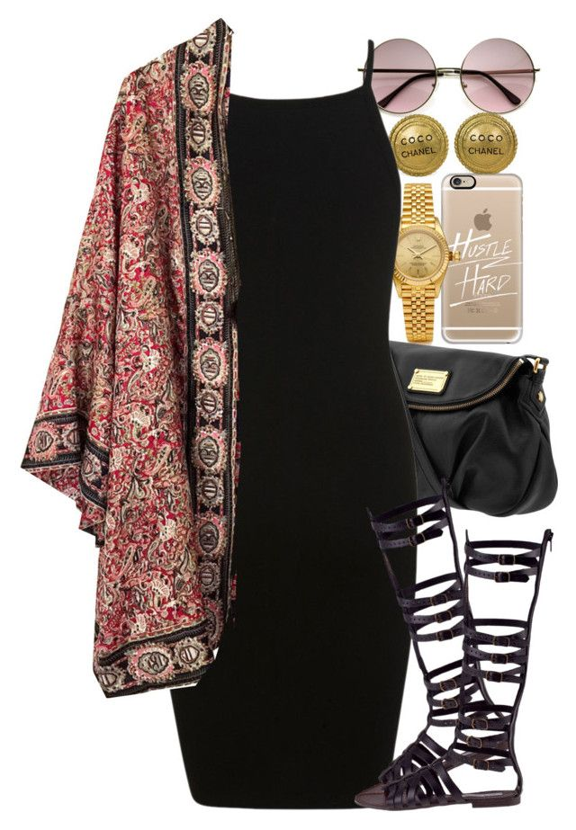 """""""Untitled #1399"""" by power-beauty ❤ liked on Polyvore featuring Chanel, Casetify, Rolex, Marc by Marc Jacobs, Miss Selfridge and Steve Madden"""