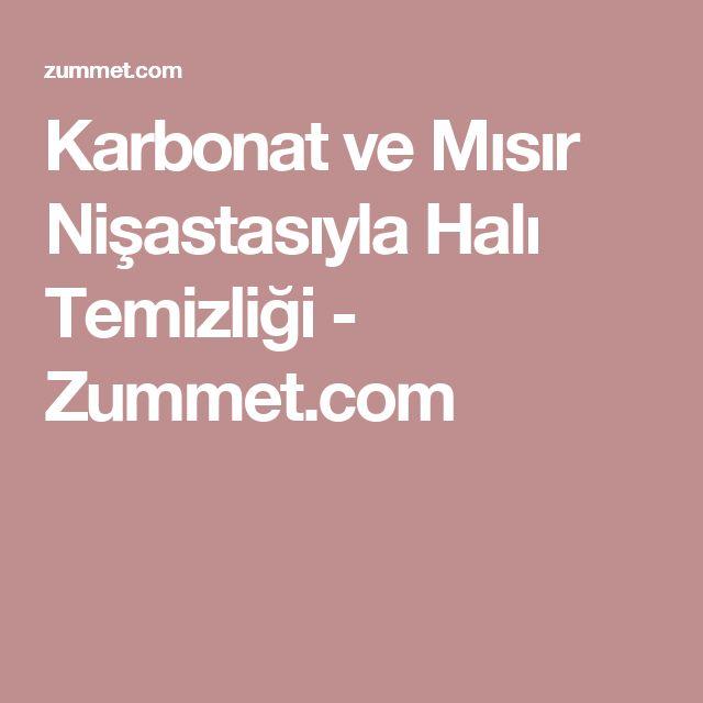 Karbonat ve Mısır Nişastasıyla Halı Temizliği - Zummet.com