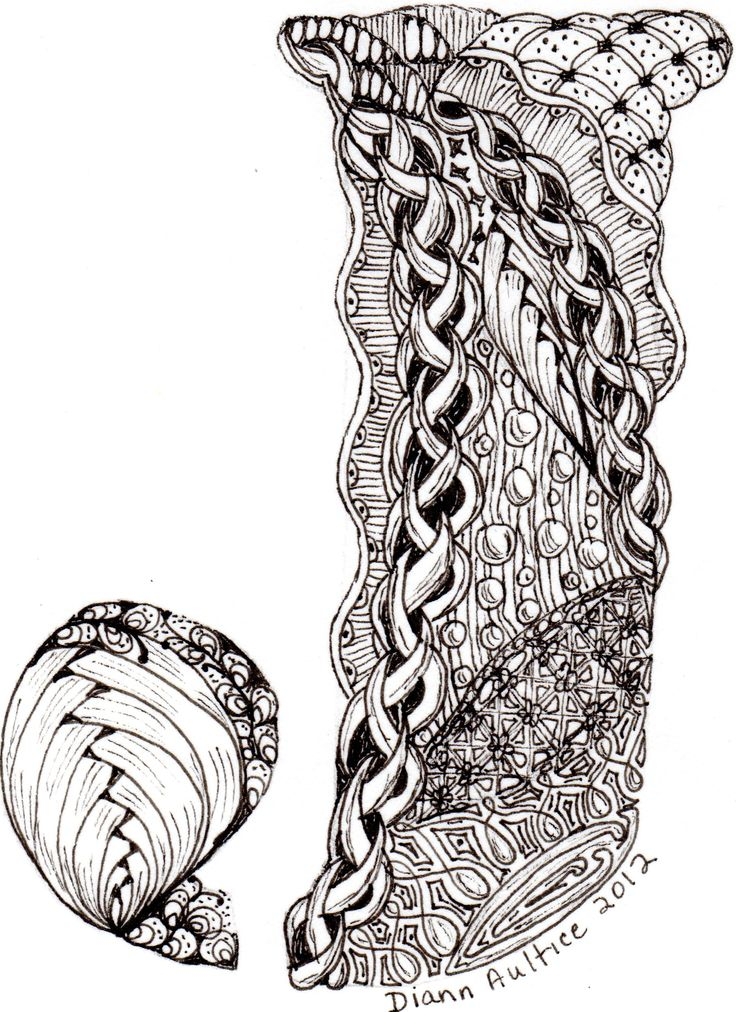 78 Best Images About Zentangle Letters On Pinterest