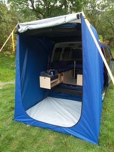 B - boot jump and boot tent, Amdro Alternative Camper Conversions