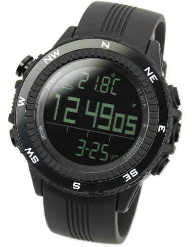 Lad Weather German Sensor Weather Forecast/Digital Compass/Altimeter/Barometer Men's Sports Watches