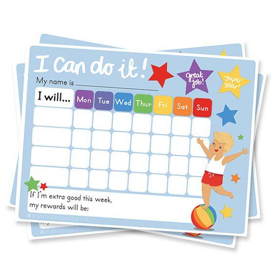 Boys Responsibility Reward Chart. Teach Older by meganlintucker