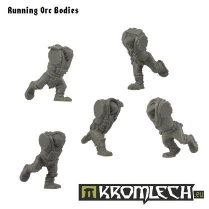 This set contains five running Orc bodies ideal for assault squads. They are designed to fit 28mm scale orc miniatures.