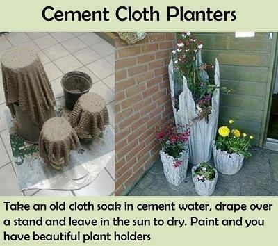 How To Make DIY Cement Cloth Draped Planters
